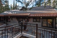 This mountain home, designed for and built in the Pine Mountain area of Kamas, Utah. Every effort was made to preserve the existing vegetation around the home, so the entry and presentation of the home is impeccably impressive. Entering the home, you will find high, vaulted ceilings,and an abundance of exposed-timber framing, creating an equally striking view on the interior. Large common areas, built-in bunk beds, and patio space make this home a perfect family retreat. #cabin #exterior Custom Home Builders, Custom Homes, Kamas Utah, Bunk Beds Built In, Pine Mountain, Vaulted Ceilings, Common Area, Preserve, Abundance