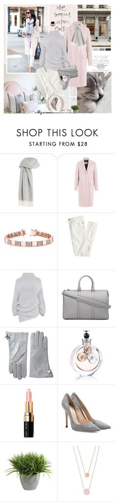 """""""Relax and chic after my precious coffee"""" by lovemeforthelife-myriam ❤ liked on Polyvore featuring Oly, Agnona, Chanel, Burberry, J.Crew, STELLA McCARTNEY, Vivienne Westwood, Valentino, Bobbi Brown Cosmetics and Gianvito Rossi"""