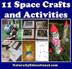 11 Space Crafts and Activities to get kids zooming off to outer space in their… Space Preschool, Space Activities, Preschool Science, Activities For Kids, Crafts For Kids, Preschool Ideas, Outer Space Crafts, Outer Space Theme, Space Projects