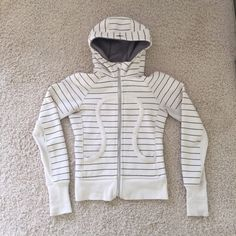 Striped Scuba Great Condition.  Cute & unique.  Willing to trade for specific items. lululemon athletica Tops Sweatshirts & Hoodies