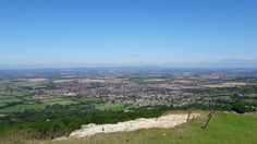Bishops Cleeve from Cleeve Hill climbing site 2016 saxonprint.com