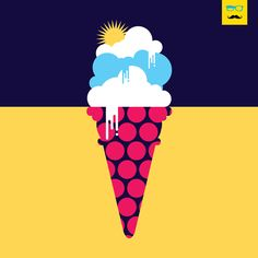Frozen Clouds and early Mornings. #30daysofsummer, #art #illustration #minimal #surreal