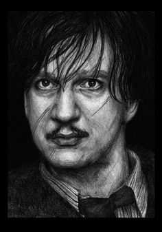 Portrait of Professor Lupin by HogwartsArt.devia on Portrait of Professor Lupin by Hogwa Harry Potter Drawings, Harry Potter Characters, Harry Potter Books, Harry Potter Universal, Harry Potter World, Professor, Desenhos Harry Potter, Severus Rogue, Remus Lupin