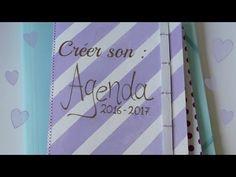Diy n°1: créer un agenda - YouTube