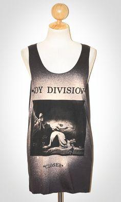 Joy Division Closer Charcoal Black Tank Top Singlet Sleeveless Indie Art Punk Rock T-Shirt Size M