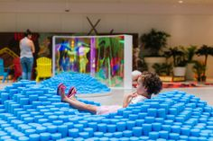 Use design to create environments of open-ended play for everyone. Temporary installation activating an area within the Westfield Countryside Mall, Clearwater, Florida Clearwater Florida, Sarasota Florida, Old Florida, Florida Beaches, Valencia Beach, Westfield Mall, Organic Water, Beach Trip, Beach Travel