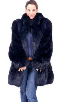 Saga Blue Fox Fur Coat Jacket Class of Lynx White Red Crystal Mink Colored | eBay