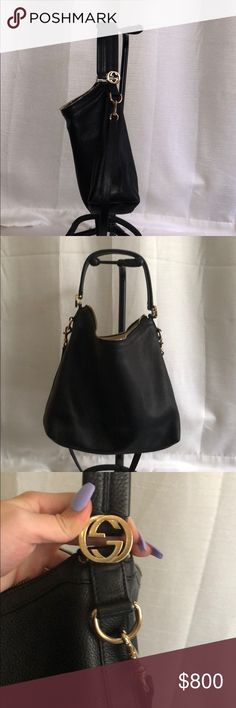 3e22d266a837 Authentic Black Gucci Bag great condition on the outside. inside isn't  perfect and