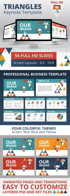 Triangles Business Keynote Template #keynote #keynotetemplate Download: http://graphicriver.net/item/triangles-business-keynote-template/4826850?ref=ksioks