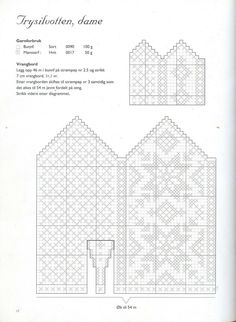 """Photo from album """"Norske Luer - Norske Votter"""" on Yandex. Crochet Mittens Free Pattern, Fair Isle Knitting Patterns, Knit Mittens, Knitting Charts, Knitted Gloves, Knitting Stitches, Knitting Socks, Knitting Designs, Knitting Projects"""