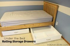 Under The Bed Rolling Lego Storage Drawers | Eat Pray Create