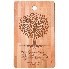 Personalized bamboo Cutting Board for Couple Established Dates to Remember