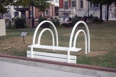 Modified Benches by Danish artist Jeppe Hein