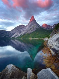 Stetind Reflection in Tysfjord, Norway <3