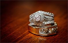 White gold and diamond vintage engagement rings
