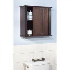 TMS Bamboo Wall Cabinet in Espresso - 23036ESP
