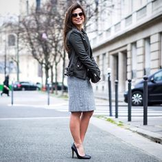 From work to play!  shop this look using  @liketoknow.it www.liketk.it/2gKcf #liketkit #parisian #parisfashion #leatherjacket
