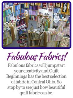 QUILT BEGINNINGS | Fabric, Sewing Machines & Accessories