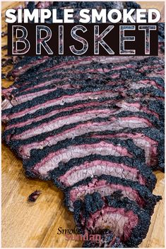 Smoking your first brisket? This smoked brisket recipe will teach you everything you need to know to help you prepare mouthwatering brisket. Traeger Recipes, Beef Brisket Recipes, Smoked Meat Recipes, Rub Recipes, Grilling Recipes, Game Recipes, Recipies, Steak Recipes, Smoked Brisket Rub