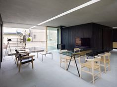 love the open space with box for private use: house in tokushima