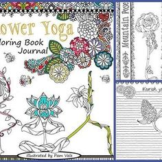Do You Like To Color Need A Gift My Flower Yoga Coloring Book Journal