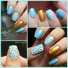 Daisy Dream Nailart (blue)
