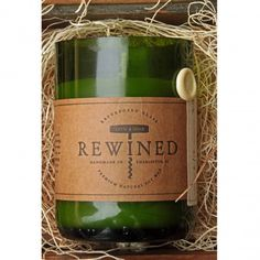 Rewined Candles - wine-inspired candles made from recycled wine bottles in Charleston, SC! Rustic Candles, Blue Candles, Soy Wax Candles, Scented Candles, Homemade Candles, Homemade Gifts, Wine Bottle Candles, Recycled Wine Bottles, Beer Bottles