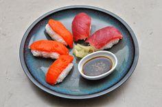 Making Salmon and Tuna Nigiri, and how to make sushi rice