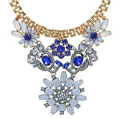 Lovely gifts for women Crystal Pendant, Crystal Necklace, Beaded Necklace, Floral Necklace, Crystal Rhinestone, Gold Necklace, Cheap Necklaces, Jewelry Necklaces, Jewellery