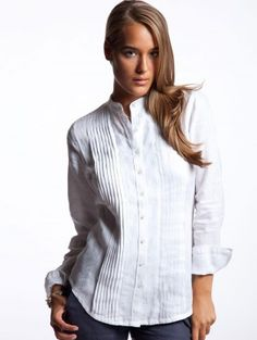 63aad95383f Women s White Mykonos Linen Shirt from Island Company. Foxglove · Clothing