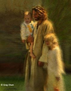 ❥ Jesus taking the children home~ what a beautiful image.