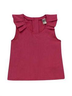 Blusa de verano para niñas Sewing For Kids, Baby Sewing, Baby Dress Design, Kids Wear, Children Wear, Kind Mode, Clothing Patterns, Blouse, Frocks