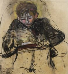 Joan Eardley (RSA) - Boy Reading is available for sale at Castlegate House Gallery. Inspirational Artwork, High Art, Urban Life, Paintings For Sale, Figure Drawing, New Art, Art For Kids, Drawings, British Artists