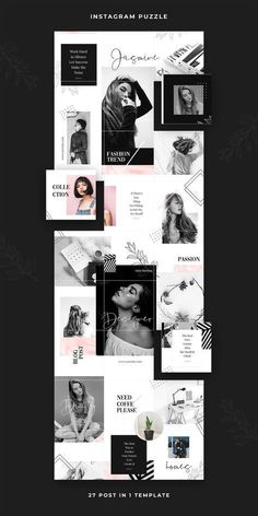 Discover recipes, home ideas, style inspiration and other ideas to try. Instagram Design, Instagram Feed Layout, Instagram Grid, Instagram Collage, Graphisches Design, Grid Design, Layout Design, Graphic Design, Hashtags Instagram