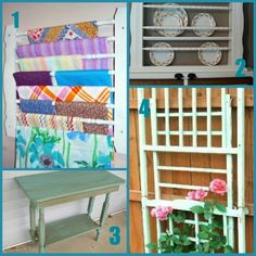 28 ideas on how to repurpose an old drop side crib.  There are a lot of great ideas here.