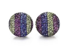 JAR Sapphire Ear Clips from the #bvlgari Elizabeth Taylor collection.  www.kristoffjewelers.com