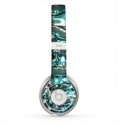 The Teal Mercury Skin for the Beats by Dre Solo 2 Headphones