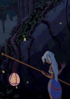 Atlantis 2001 Kida and Fireflies Disney Pixar, Arte Disney, Disney Girls, Disney Animation, Disney And Dreamworks, Disney Love, Disney Magic, Disney Characters, Disney Princesses