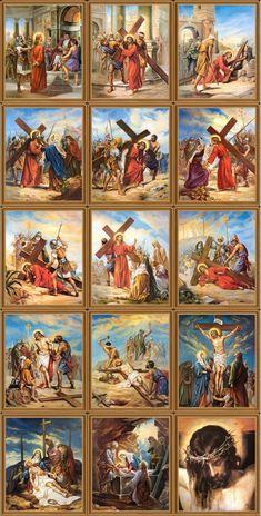 Bela Via Crucis - Tornadoes Images Du Christ, Pictures Of Jesus Christ, Religious Pictures, Bible Pictures, Jesus Christ Painting, Jesus Art, Christian Artwork, Christian Pictures, Catholic Art