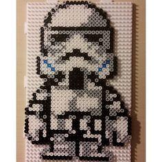 Stormtrooper - Star Wars hama beads by sebholaa945history