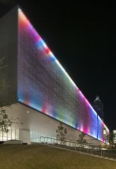 San Francisco architect Stanley Saitowitz has completed a museum in Florida, USA, which is wrapped in a perforated metal skin and cantilevers out from its glazed base. Called Tampa Museum of Art, the building is divided into two volumes, each organised around a courtyard. The first contains public areas of the museum and the other