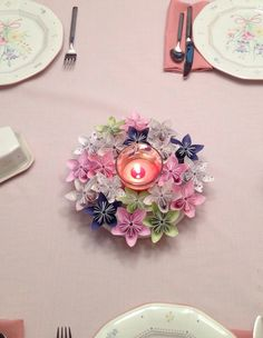 Pretty Princess Origami/Kusudama Paper Flower by kreationsbykia