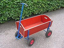 This toy wagon is called Bolderkar.