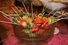 Sriracha Meatball Skewers -- great for entertaining a crowd