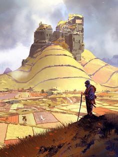 "jyleshay: "" Fantasy Concept Illustrations - Created by Sparth "" Fantasy City, Fantasy Castle, Fantasy Places, Medieval Fantasy, Fantasy World, Concept Art Landscape, Fantasy Art Landscapes, Fantasy Landscape, Landscape Art"