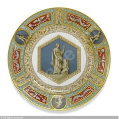 IMPERIAL PORCELAIN MANUFACTURE (Russia) - A DESSERT PLATE FROM THE RAPHAEL SERVICE
