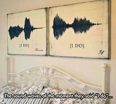 The Sound Of Love - not sure I'd hang it above the bed but such an awesome idea!!