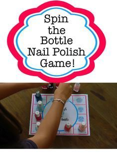 Spin the Bottle Nail Polish Game! - Spin the Bottle Nail Polish Game!     #birthday #decoration #love #decor #party #interiordesign #happybirthday #homedecor #happy #design #birthdaygirl #interior #family #art #photography #home #hiphop #architecture #instagood #interiors #food #designer #music #fun #homedesign #cake #furniture #travel #interiordesigner #friends Games For Girls Sleepover, Birthday Sleepover Ideas, Sleepover Party Games, Things To Do At A Sleepover, Sleepover Activities, Fun Party Games, Birthday Party For Teens, Party Games For Tweens, Games For Sleepovers