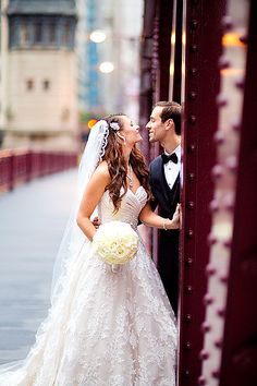 Chicago City Wedding, bridges