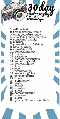 in 30 day photography challenge. May not do the challenge, but it will help if I do a 365 in 2012 Photography Challenge, Photography Lessons, Photography Projects, Creative Photography, Photography Sketchbook, Canon Photography, Beginner Photography, Iphone Photography, Outdoor Photography